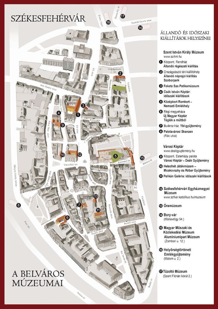 székesfehérvár belváros térkép Városi Képtár   Deák Gyűjtemény székesfehérvár belváros térkép